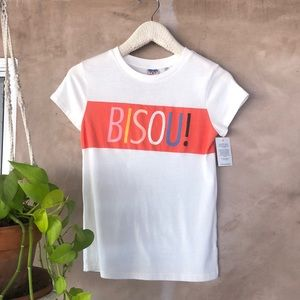 Junk Food 'bisous' graphic tee